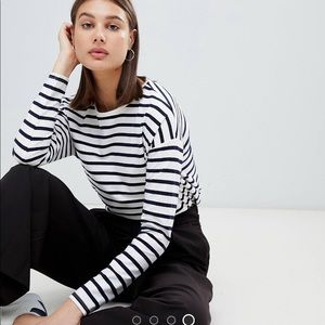 ASOS striped shirt with dropped shoulders